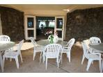 Covered patio dining.
