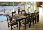 Dining For Eight Offering Unobstructed Outdoor Pool & water Views...