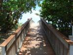 Walkway to Private Beach!