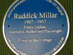 historic Blue Plaque to the memory of Ruddick Millar - our link to the Titanic story