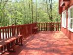 Partial view of 500 sq ft wrap-around deck