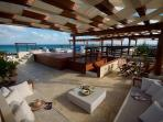 Lounging area on Rooftop Patio