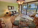 Indoor and outdoor dining areas- both with veiw