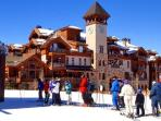 Private shuttle bus provides complimentary transportation from our home to the ski lift.