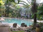 Lagoon pool, plus wading pool, plus spa