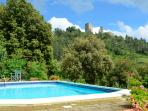 The pool  with view Montecastelli Pisano