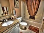 Beautiful Family Bathroom with Granite Counter Top