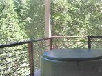 2nd deck with hot tub