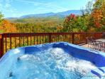 A Postcard View of the Mountains from this 2 Bed 2 Bath 2 Jacuzzi Cabin