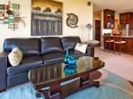 Tastefully decorated, comfortable quality furniture.