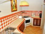 Fully equipped Mexican style kitchen