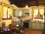Bougainvillea cottage Kitchen and dinning area.