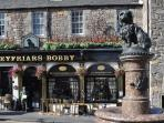 The much loved Greyfriar's Bobby statue is only 100 metres from the apartment