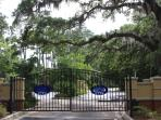 Canopy Walk entrance with the beautiful oak trees that surround the property...