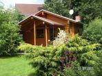 Romantic timber-guesthouse, fireplace garden pool