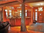 Amish built cherry and maple cabintry throughout