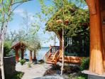 Relax in the lake front gazebo