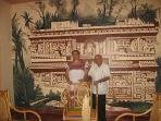 Salon Mural after an Etching by Catherwood of the Original  Structure at Chichen Itza