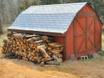 We supply all the wood you need for the fireplace