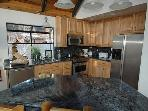 Kitchen with Blue Granite tops