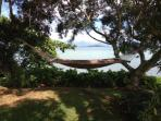 Relax in the peaceful hammock overlooking the bay...