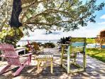 waterfront deck is perfect for watching manatees, birds and dolphins