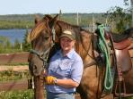 Horseback riding at the Gunflint stable