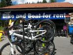Bike Hire & Repair, and free Rowing Boats on Obersee