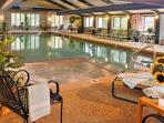Indoor heated pool and jaccuzi