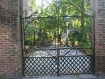 Carriage gates leading to the cottage