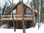 Low rates; all winter fun here! on lake in forest