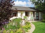 GARDEN VIEW, pet friendly, country holiday cottage, with a garden in Lixwm, Ref 4029
