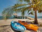 kayaks on beach at home included with rental