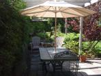 Summer view:Your private terrace in the garden