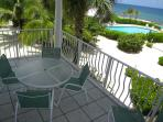 Private Balcony with view of pool and the sea