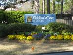 The entrance at Fiddler's Cove