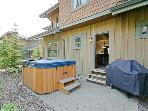 private 6 person hot tub and large BBQ