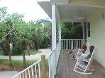 front porch area with rockers and porch swing - overlooking bike scenic bike paths