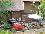 back patio with gas grill