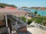 Historical home with large wrap-around terrace over Gustavia Harbor WV VIA