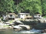 River View Cabins on Stocked Trout River in WNC