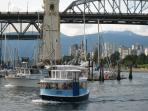 Granville Island accessible by  ferry taxis