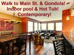 2 minute walk to Main St. Indoor Pool & Hot-Tub!