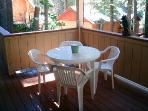 outdoor deck  for dining