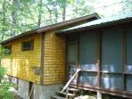 Screened porch and attached bunkhouse