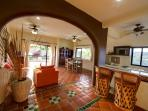 Casita - Kitchen, Bar & Living Area