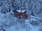 Ranch house in winter