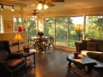 Enjoy dining overlooking the bluff and oak grove hundreds of years old