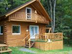 Log cabin getaway the heart of the white mountains