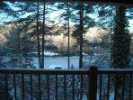 View From the Deck is Beautiful Even in the Winter.